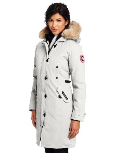 Canada Goose Women's Kensington Parka Coat in Light Grey