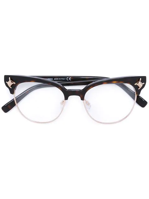 Dsquared2 Babe Wire Emblem Glasses In Black