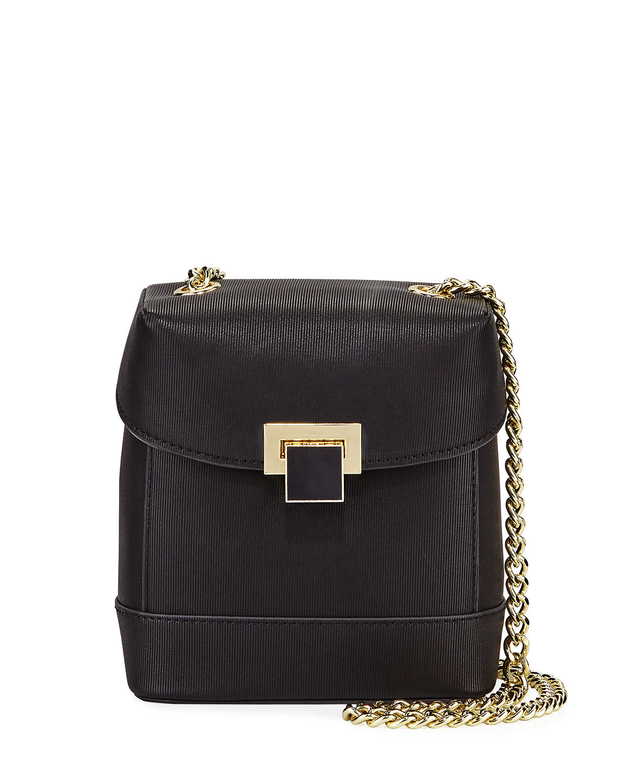 Christian Siriano Glenda Small Crossbody Box Bag In Black