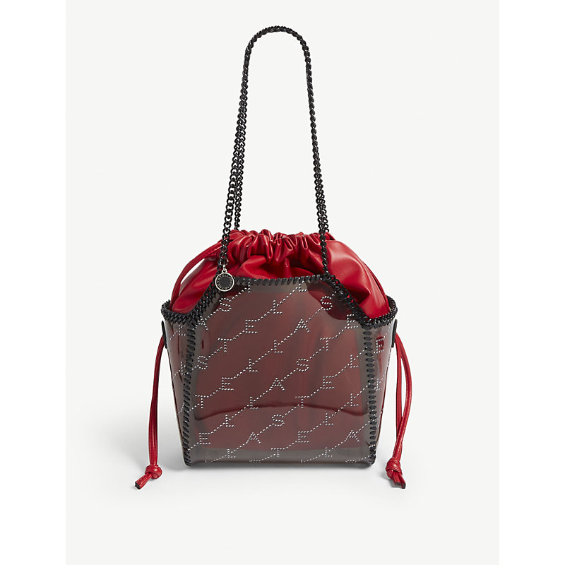 stella mccartney falabella small perforated logo tote in