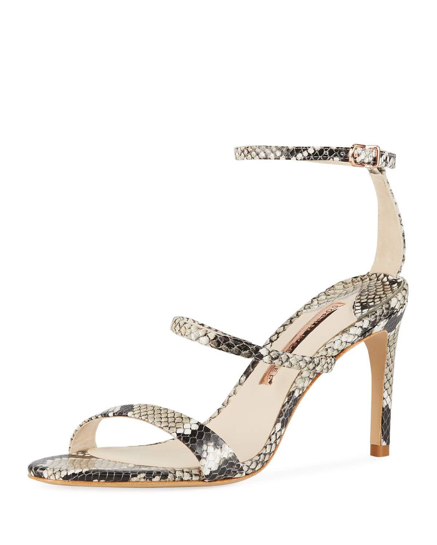 b58bbfc79fd Sophia Webster Rosalind Snake-Embossed Strappy Sandals