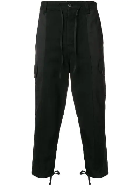 Ami Alexandre Mattiussi Patchwork Oversized Carrot Fit Trousers In Black