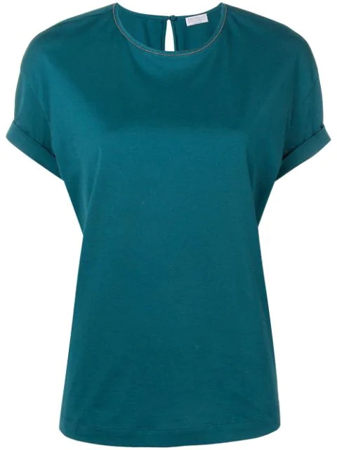 Brunello Cucinelli Loose-fit T-shirt In Blue