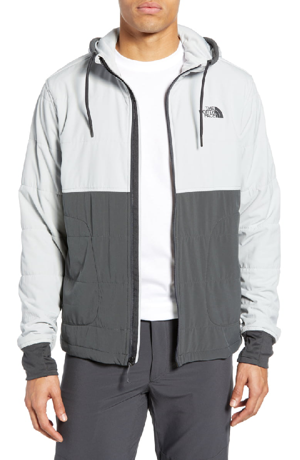c6187ce76 Mountain 2.0 Quilted Zip Hoodie in Asphalt Grey/ High Rise Grey