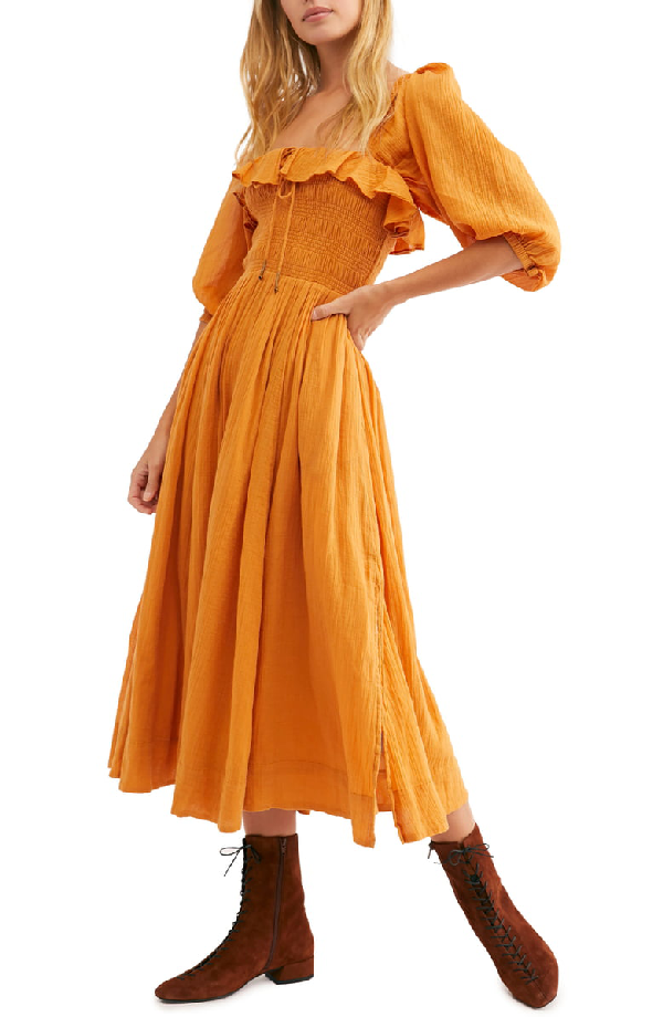 234ca590c6ff Free People Ruffle Maxi Dress In Orange | ModeSens