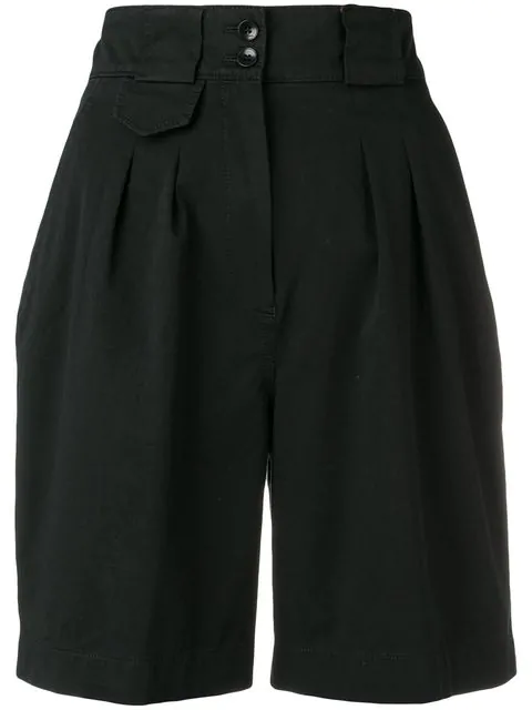 Etro High Waist Shorts In Black
