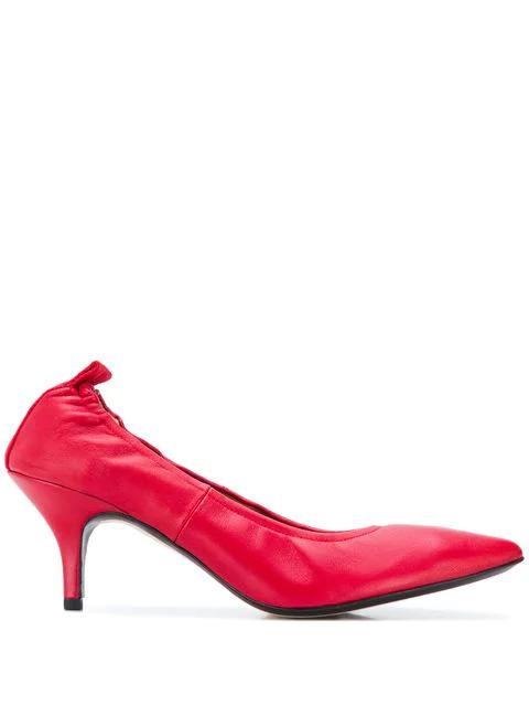 Joseph Dallin Kitten Heel Pumps In Red
