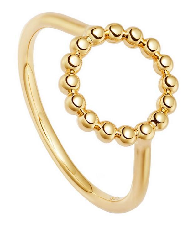 Astley Clarke Gold Vermeil Stilla Arc Beaded Ring