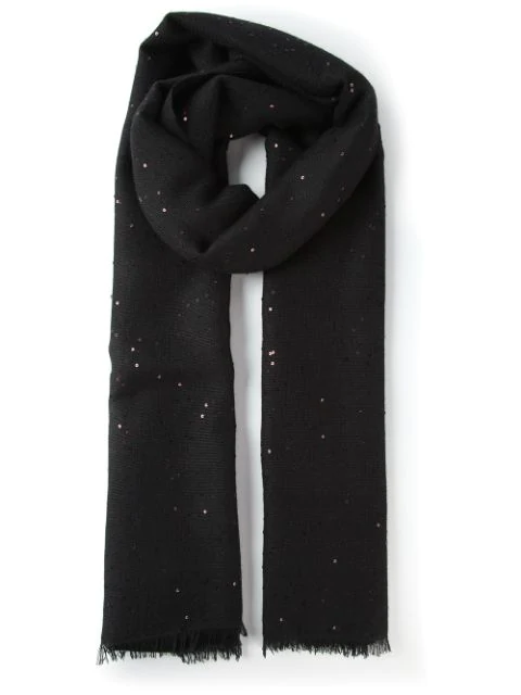 Brunello Cucinelli Knitted Scarf In Black