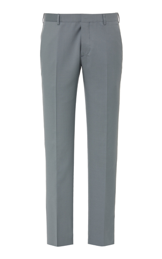 Prada Wool And Mohair Slim-Leg Pants In Grey