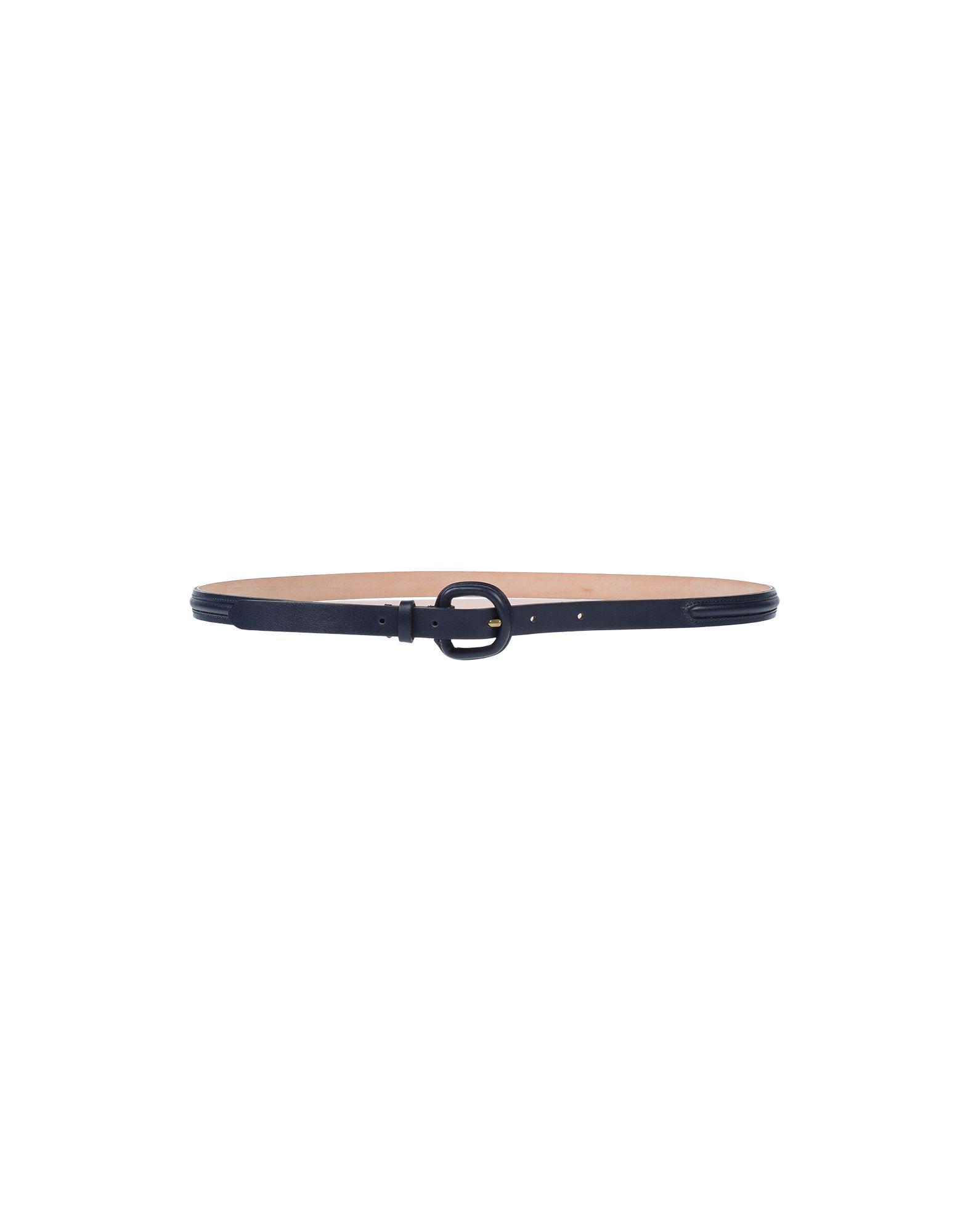 Etro Leather Belt In Dark Blue