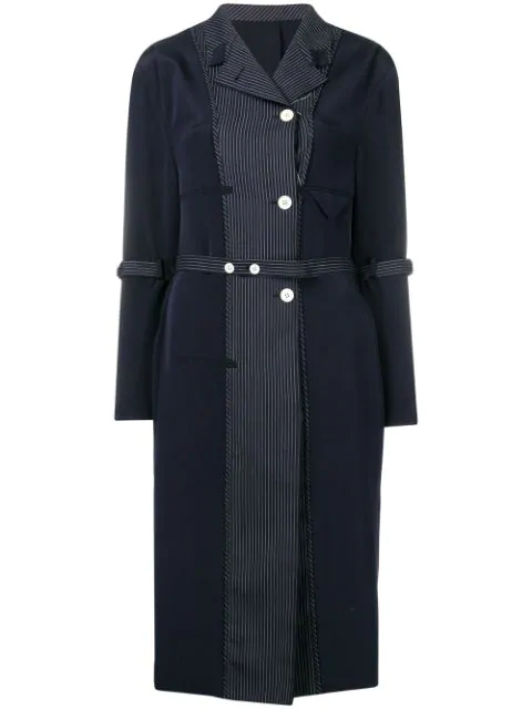 Thom Browne Inside-Out Coat Lining Dress In 415 Navy