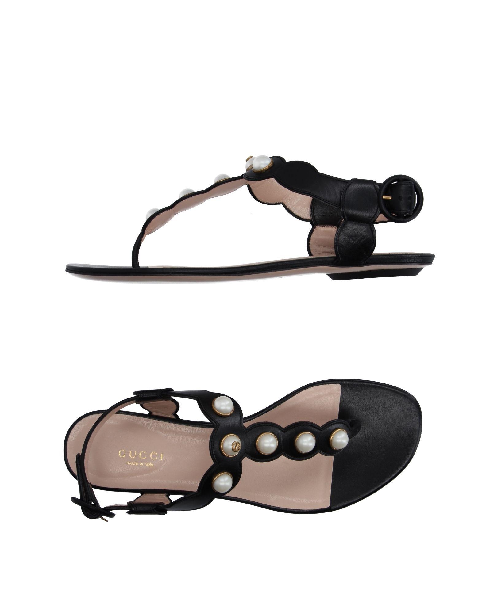 Gucci Flip Flops In Black