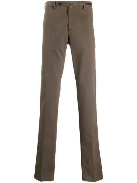 Pt01 Straight Leg Trousers In Brown