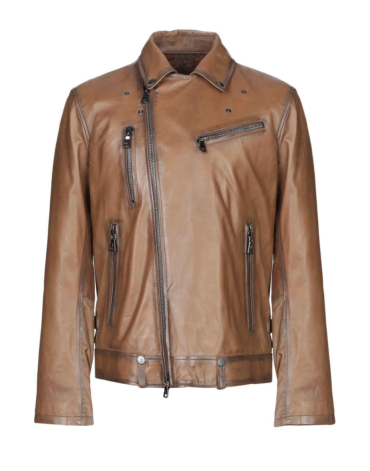 John Varvatos Biker Jacket In Khaki