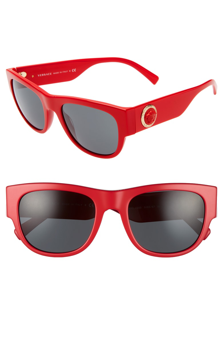 3db44348aa17 Versace 55Mm Square Sunglasses - Red  Grey Solid