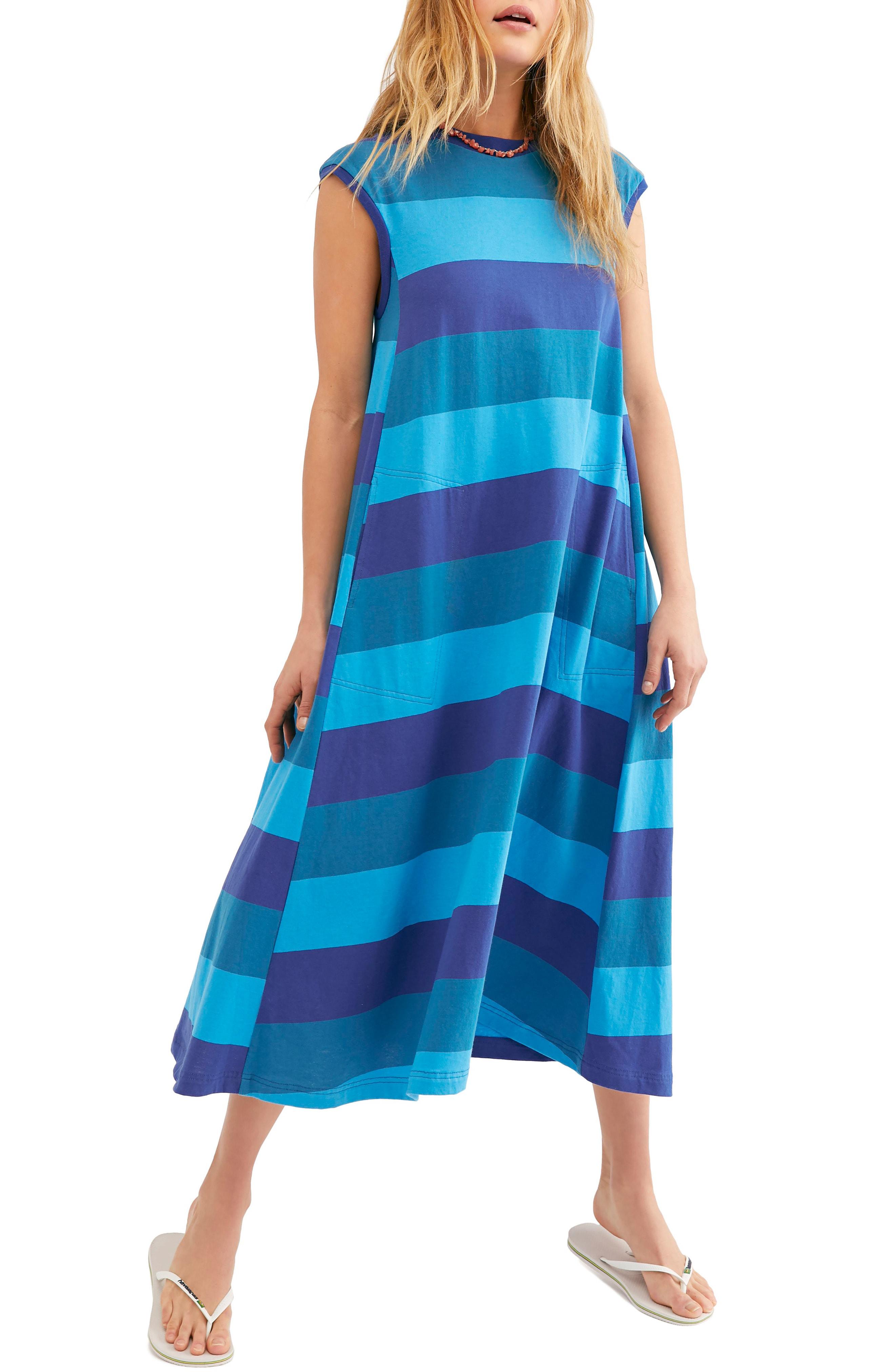 3b68fecbc Free People Endless Summer By Luella Stripe Shirtdress In Blue ...