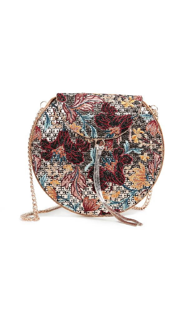 4bfc2f1b9b85 Sam Edelman Beatrice Metal Minaudiere In Multi Floral Embroidery ...