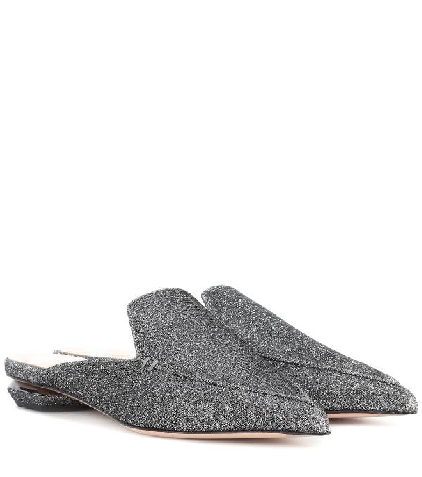 Nicholas Kirkwood Beya Metallic Mules In Grey
