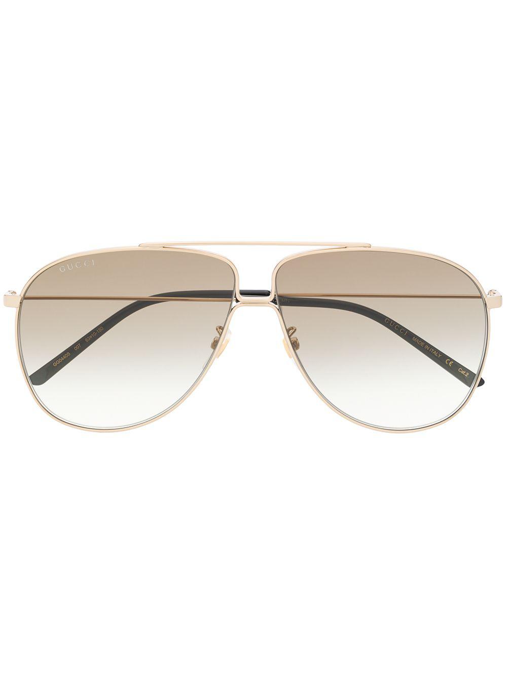 00776df8948 Gucci Eyewear Aviator Sunglasses - Gold. Farfetch