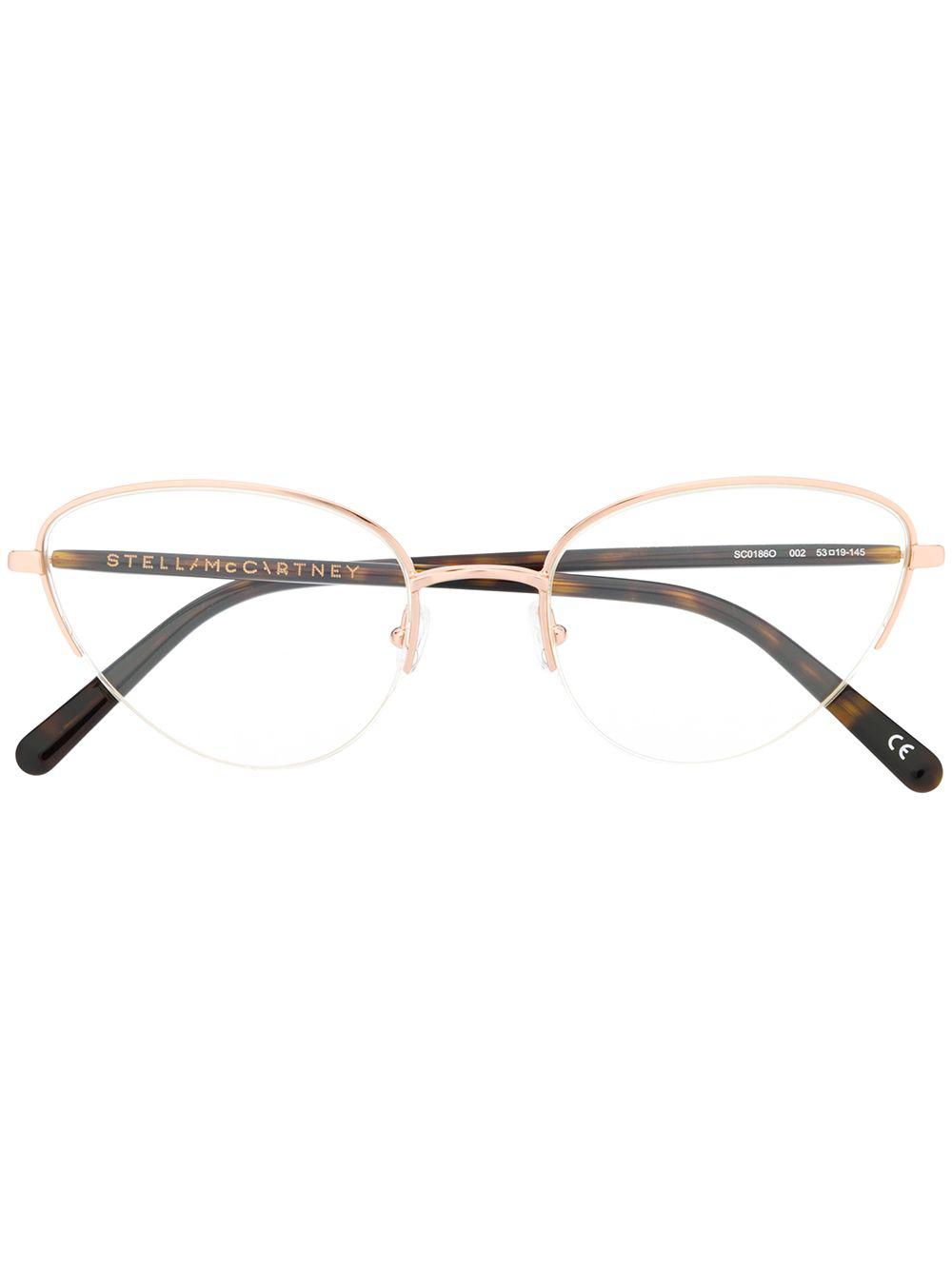 c0e83339e55 Stella Mccartney Eyewear Cat Eye Frame Glasses - Brown. Farfetch