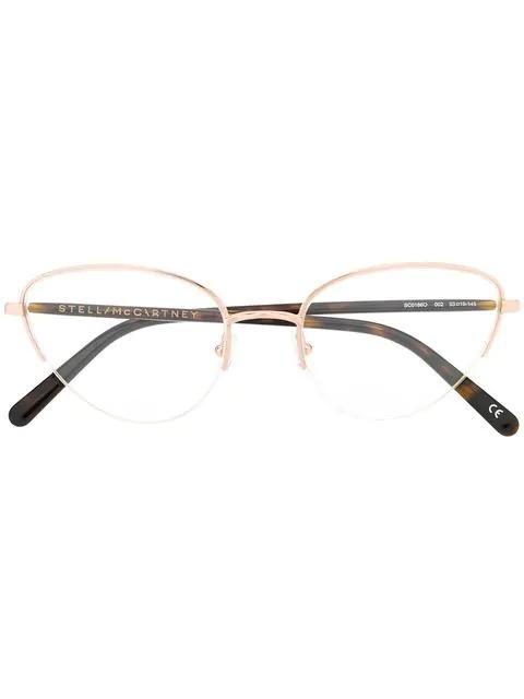 dd426f686 Stella Mccartney Eyewear Cat Eye Frame Glasses - Brown   ModeSens