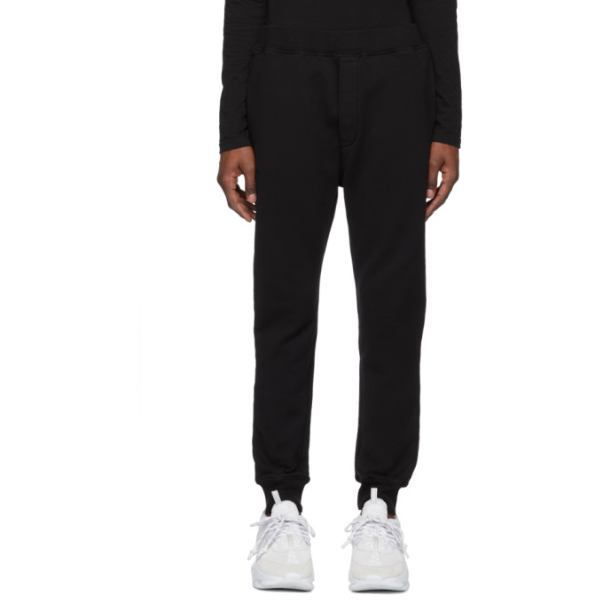 0b931600e Dsquared2 Black Slouch Fit Lounge Pants in 900 Black