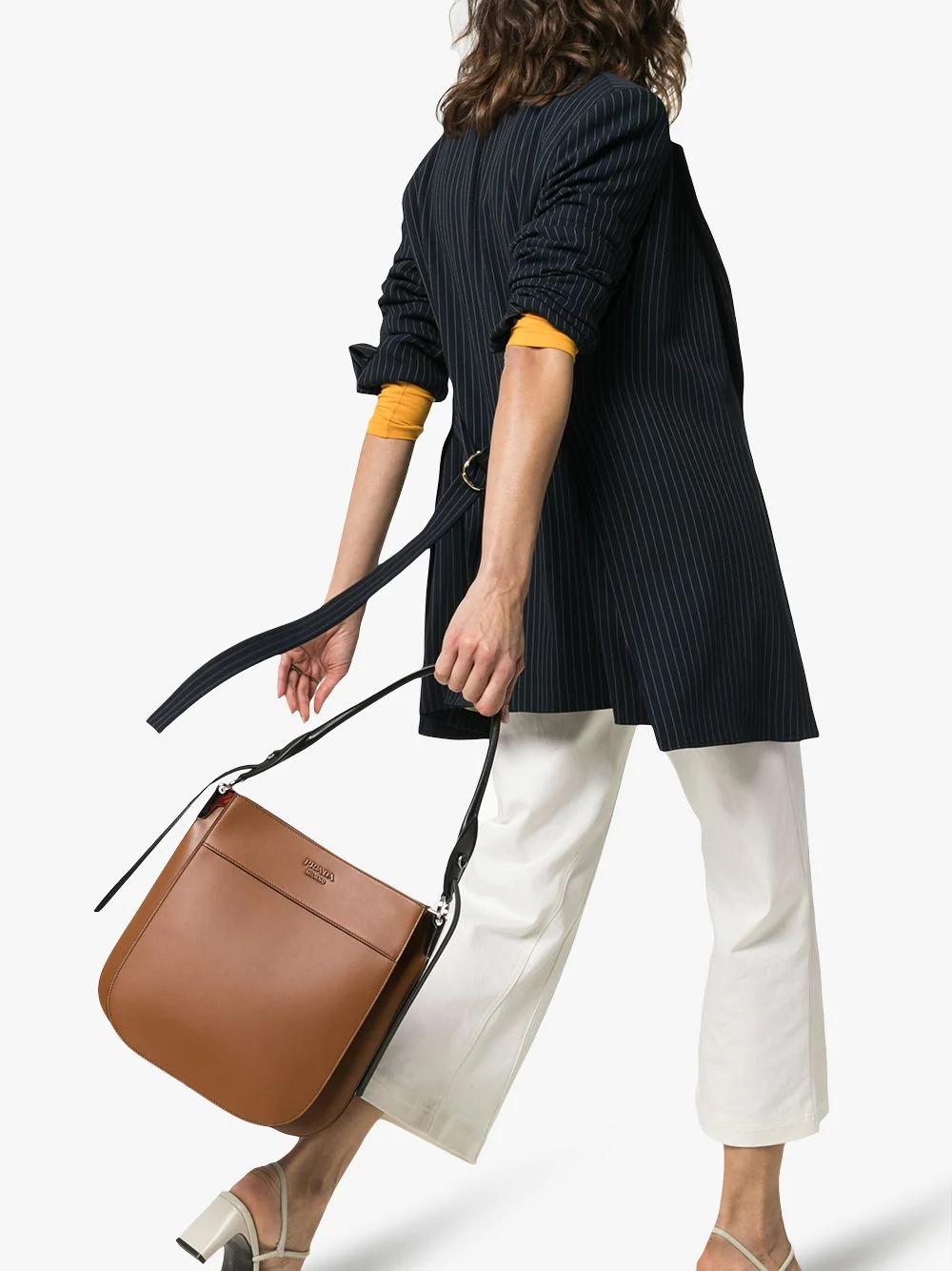 6f772f9a78c3 Prada Margit Leather Shoulder Bag In Brown