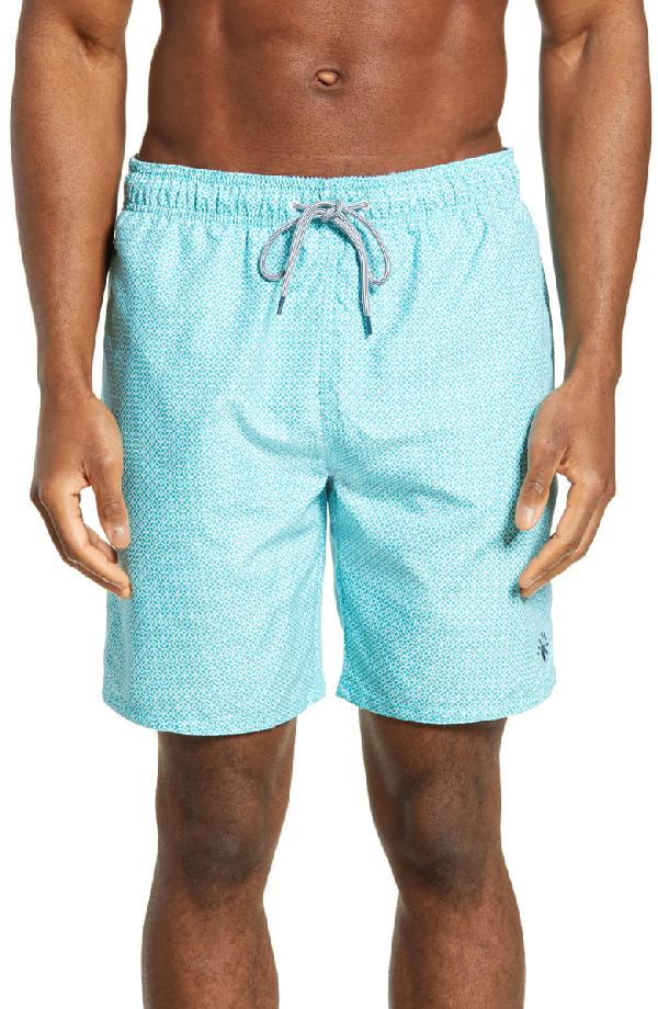 4be9c38785 Ted Baker Alantic Geo Print Midi Swim Shorts In Turquoise | ModeSens