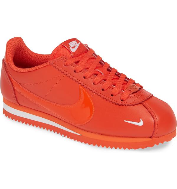 timeless design f3da5 999bc Nike Classic Cortez Premium Xlv Sneaker In Team Orange  White