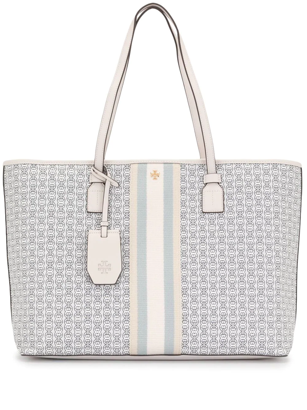Tory Burch Gemini Link Coated Canvas Tote - Ivory In New Ivory Gemini Link