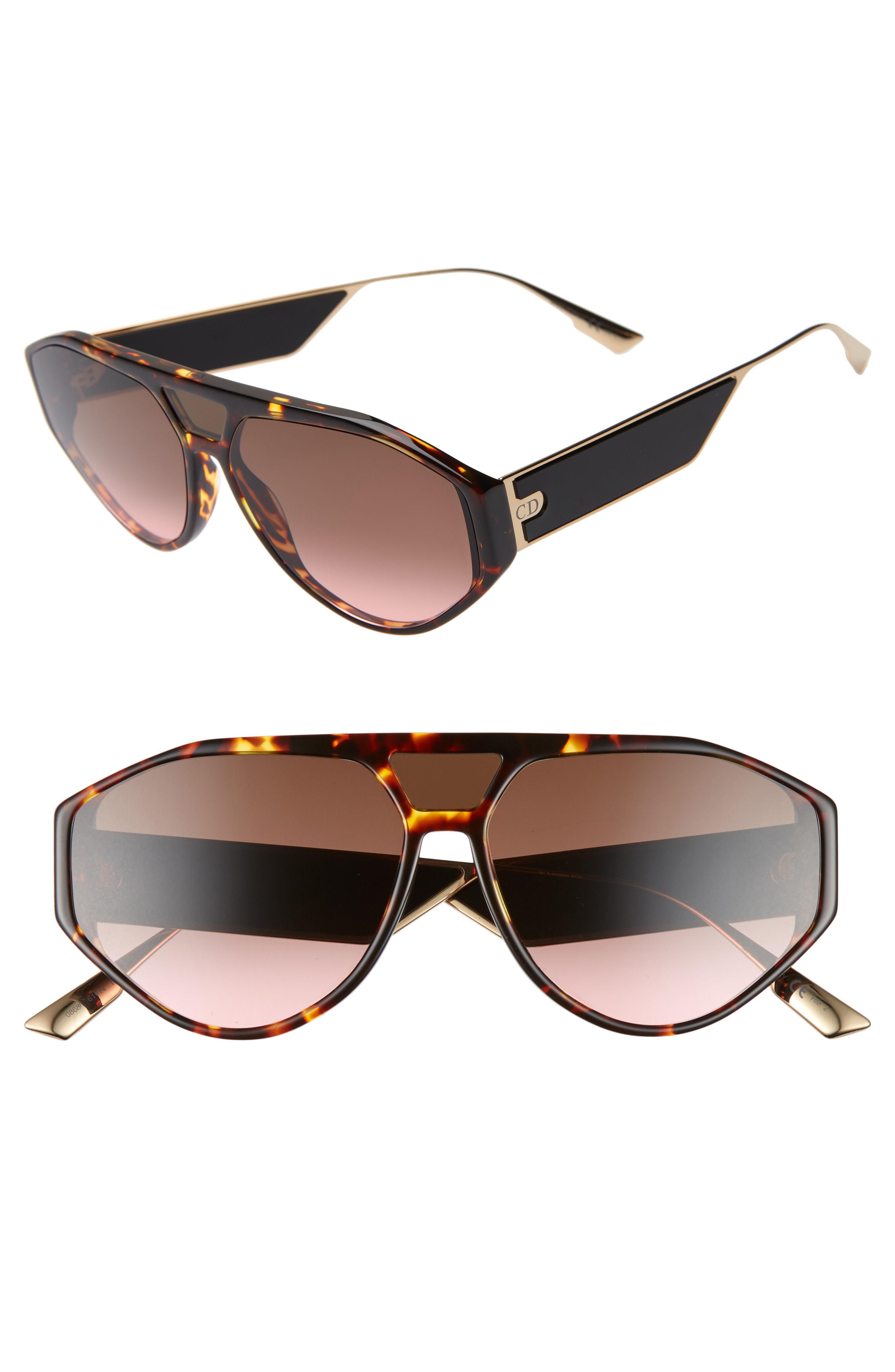 c14c84ca2 Dior 61Mm Aviator Sunglasses - Dark Havana/ Pink | ModeSens