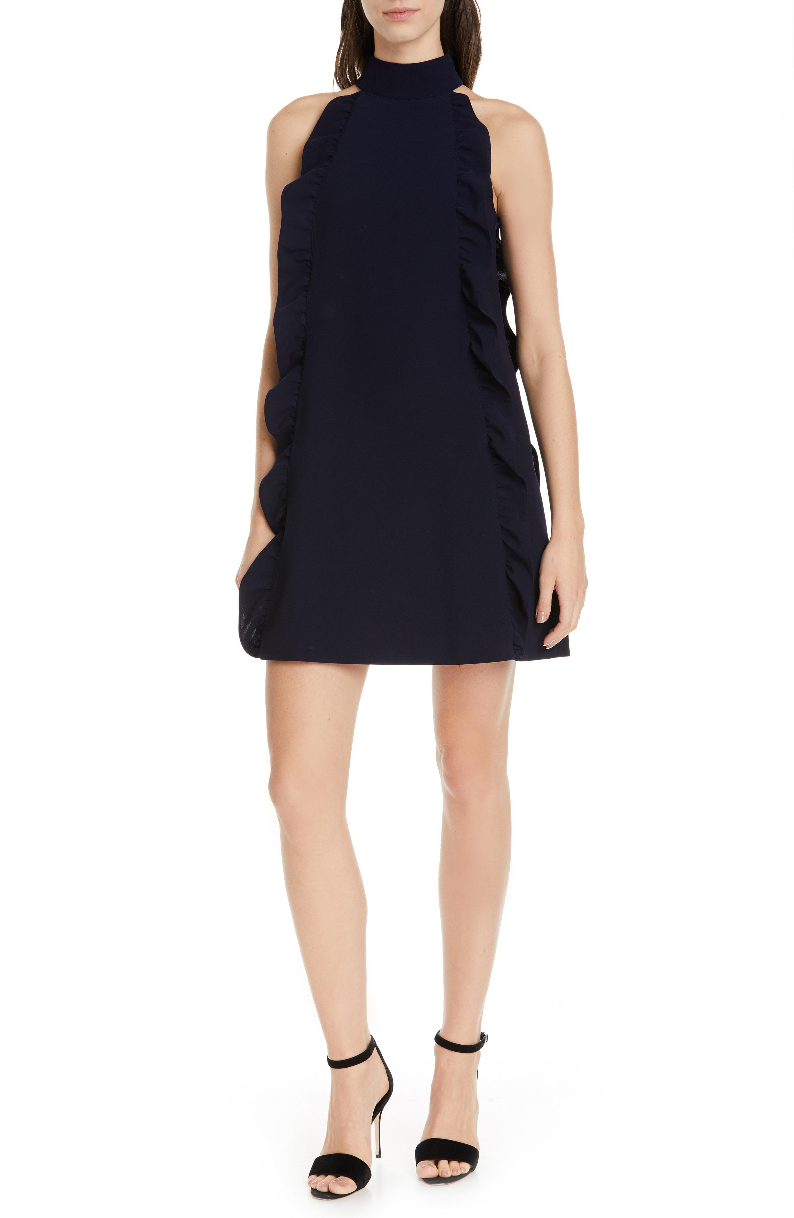 ab11edddc26 Ted Baker Torriya Ruffle Tunic Dress In Navy | ModeSens
