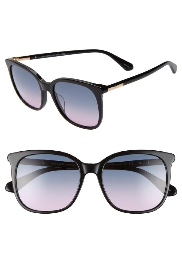Kate Spade Caylin 54mm Gradient Square Sunglasses In Black