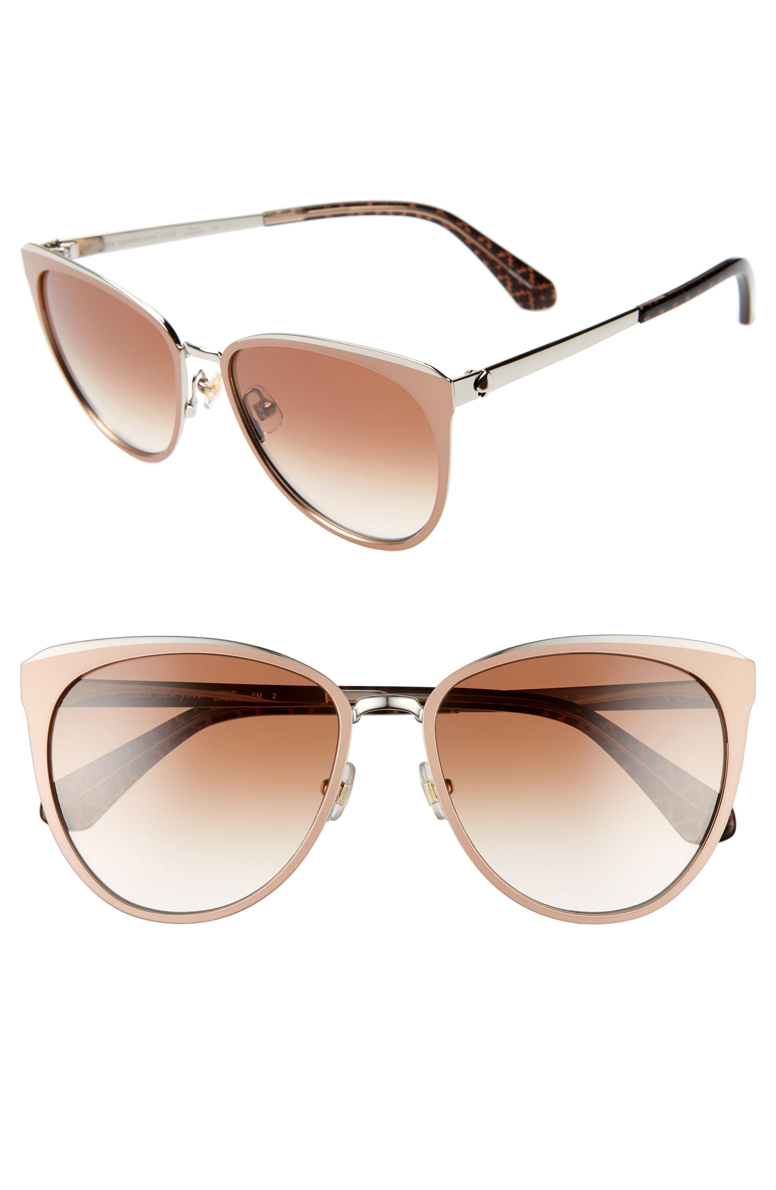 Kate Spade Jabreas 57mm Cat Eye Sunglasses In Neutrals