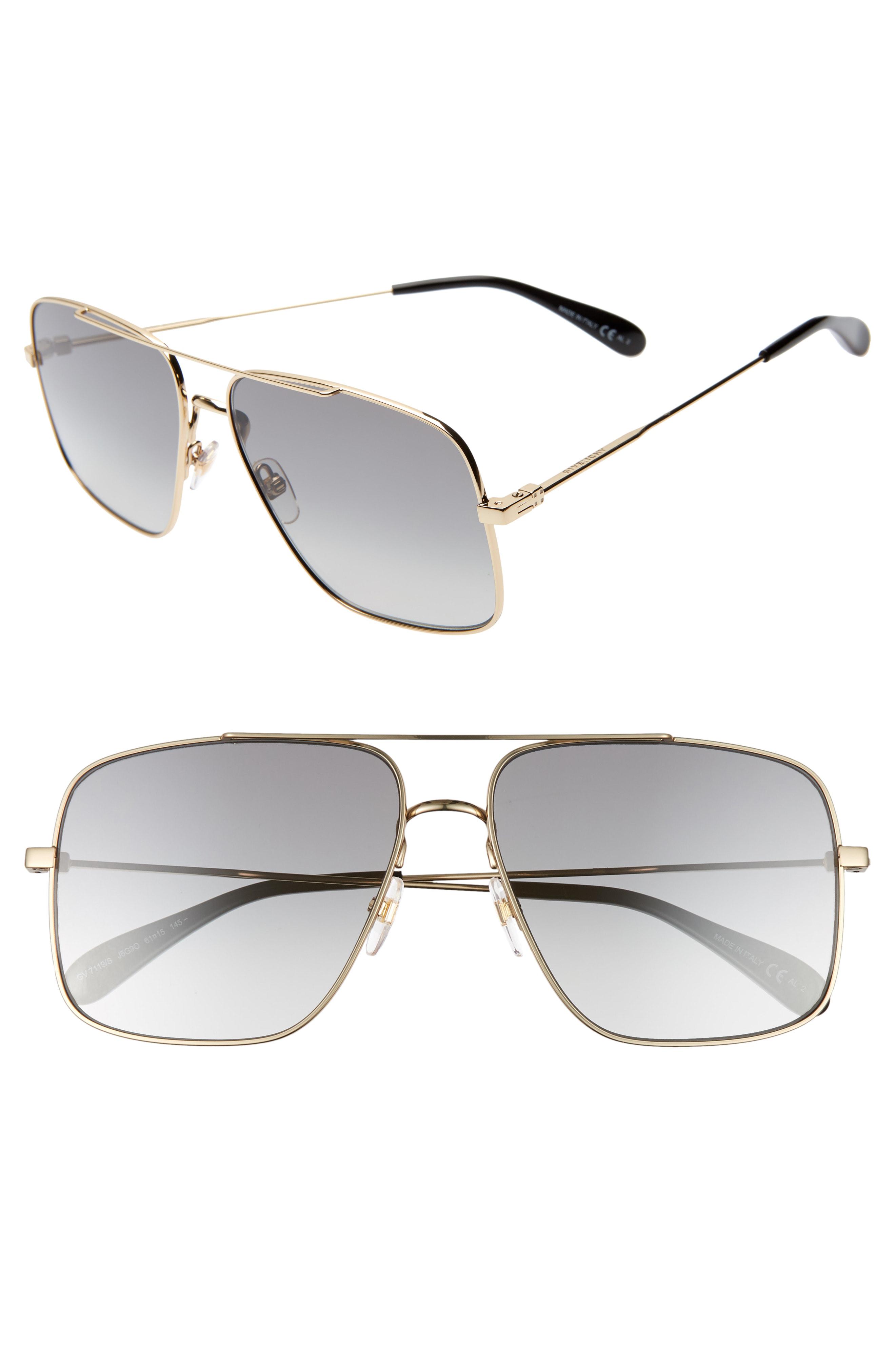 75d040e0a6139 Givenchy 61Mm Navigator Sunglasses - Gold  Grey