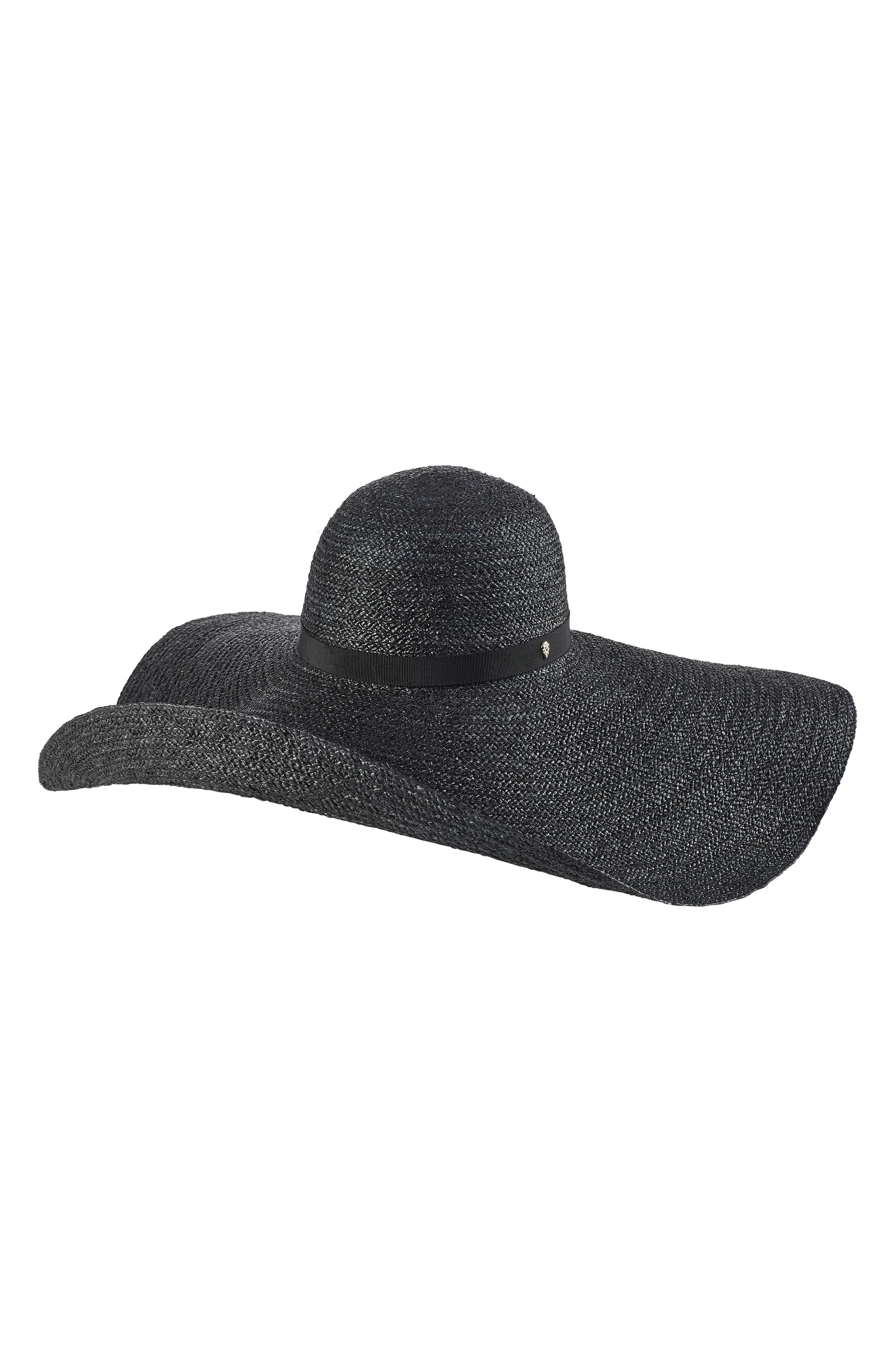 943a3fbd3e0b3d Helen Kaminski Wide Brim Raffia Hat - Black In Charcoal/ Black ...