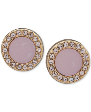 a78a9d2ad Dkny Gold-Tone Pave & Stone Extra Small Stud Earrings, Created For Macy's In