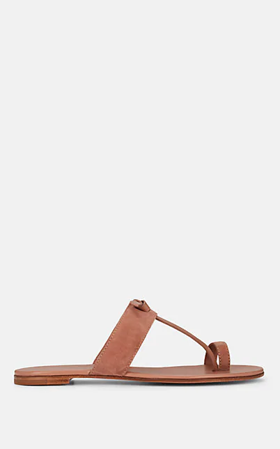 Gianvito Rossi Leather & Suede Sandals In Nudeflesh