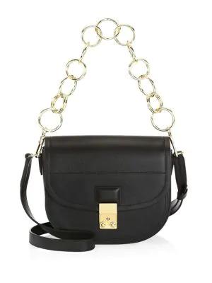 3.1 Phillip Lim Pashli Leather Saddle Shoulder Bag In Black