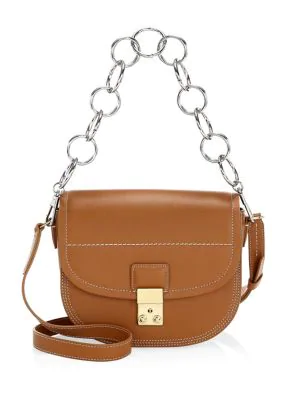 3.1 Phillip Lim Pashli Leather Saddle Shoulder Bag In Cognac