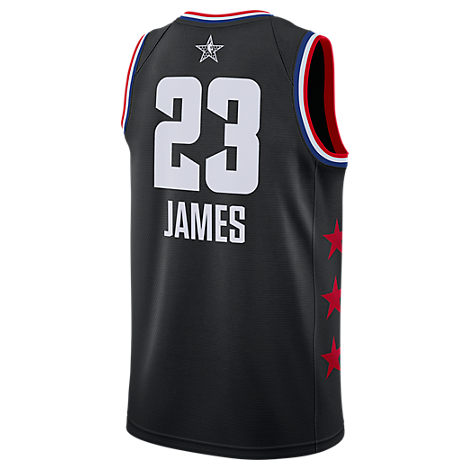 reputable site d00b8 5bd7b Men's Jordan Los Angeles Lakers Lebron James Nba All-Star Weekend 2019  Swingman Jersey, Black