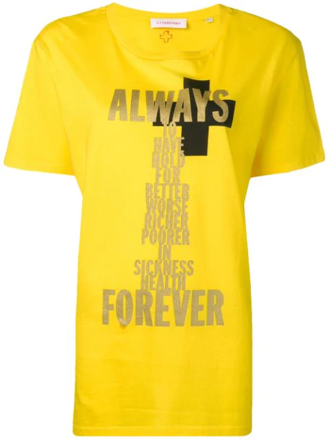 A.F.Vandevorst Always Forever T-Shirt - Yellow