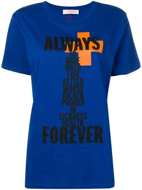 A.F.Vandevorst T-Shirt Mit Print - Blau In Blue