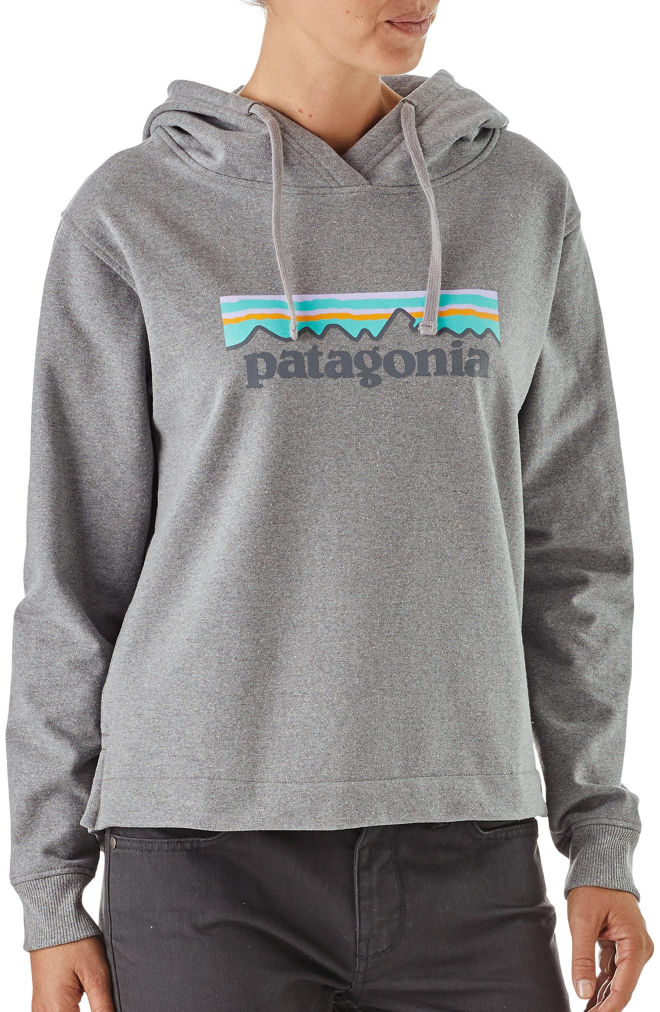 Patagonia P-6 Logo Uprisal Hoodie In Glh Gravel Heather