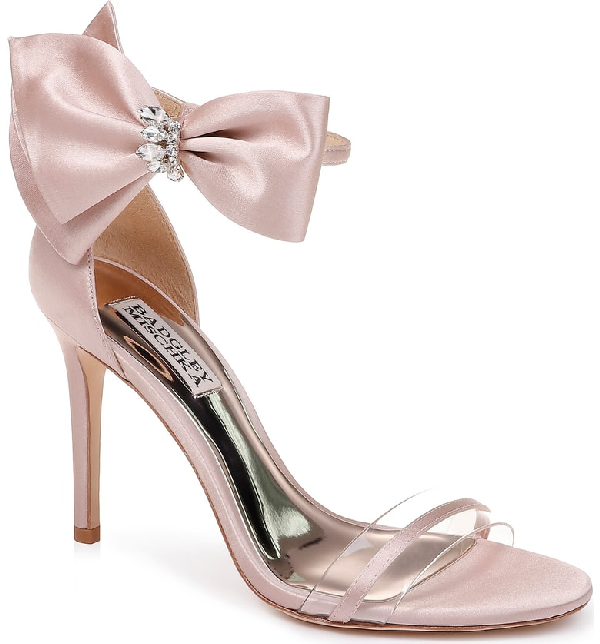 d18963c5a Badgley Mischka Women s Fran Embellished Satin Bow High-Heel Sandals ...