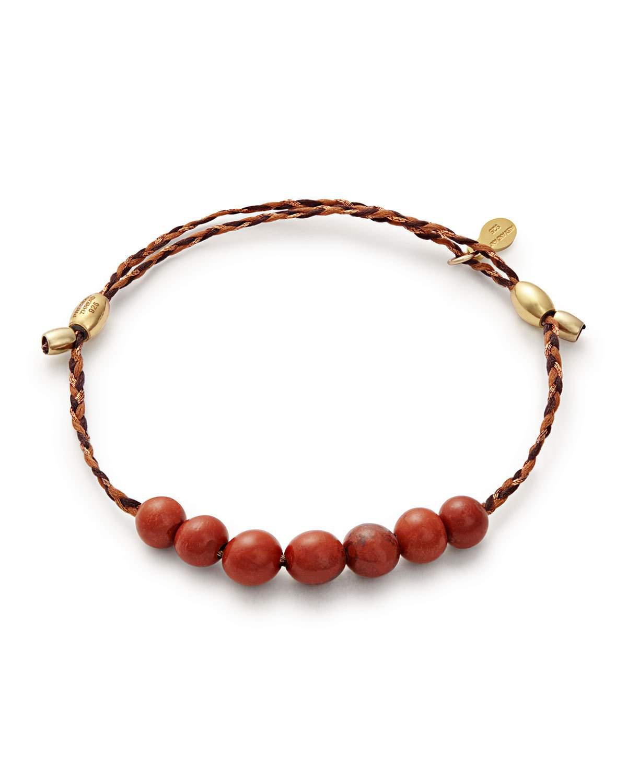 b96efb74a3c7dd Alex And Ani Precious Threads Jasper Braid Bracelet, Red/Gold | ModeSens