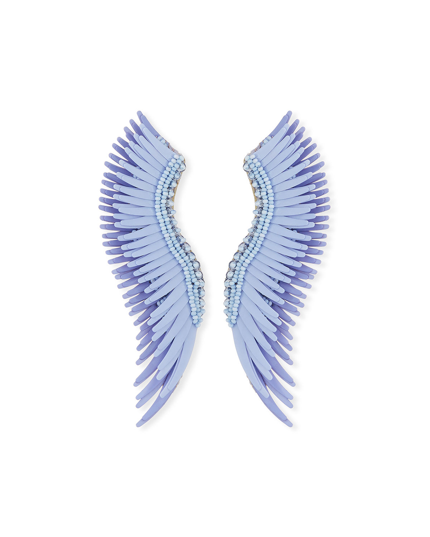 Mignonne Gavigan Madeline Beaded Statement Earrings In Light Blue
