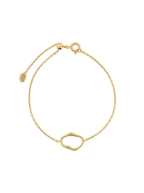 Maria Black Midnight Bracelet In Gold