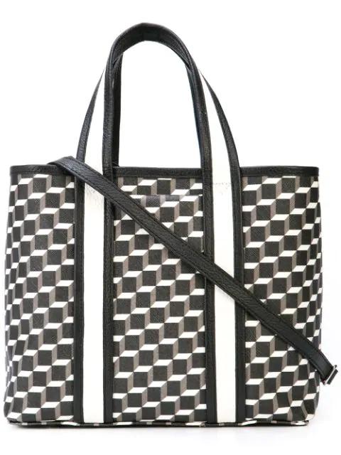 Pierre Hardy Mini Archi Tote Bag In Black